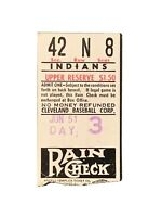 1951 New York Yankees @ Cleveland Indians Ticket Stub Mantle RC, Dimaggio, Berra
