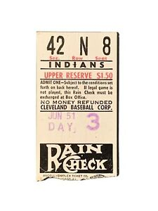 1951 New York Yankees @ Cleveland Indians Ticket Stub Mantle RC, Dimaggio, Berra