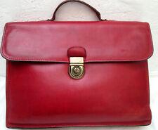 -AUTHENTIQUE   sac type cartable rouge  ARTHUIR & ASTON cuir  TBEG vintage bag