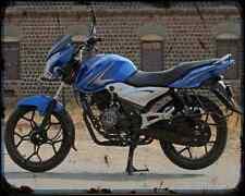 Bajaj Discover 100 14 02 A4 Metal Sign moto antigua añejada De