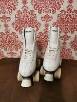 Freesport White Quad Roller Skates Ladies size 1 excellent condition
