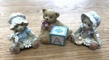 Set of 3 Cherished Teddies by Priscilla Hillman. Unboxed.
