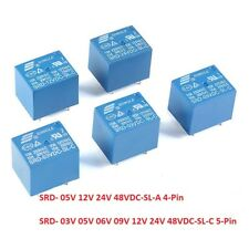 SONGLE Mini Power Relays SRD-03V 05V 09V 12V 24V 48VDC-SL-A -SL-C 4Pin 5Pin 10A