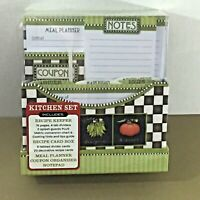 New Seasons Kitchen Set Recipe Keeper Meal Planner Card Box Coupon Organizer etc