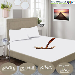Waterproof Mattress Protector Non-Allergenic Fitted Sheet Single , Double , King