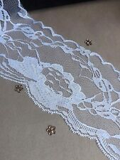 SALE White LACE RIBBON TRIM 100mm 10cm BRIDAL CRAFTS flower - 2M