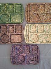 Lot 5 School Lunch Tray Melamine PROLON Ware Melmac Confetti Speckle Marbled