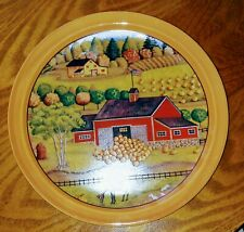 Farm Scene Decorative Plate Handpainted