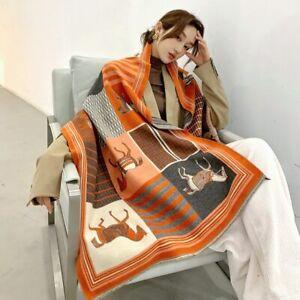 Winter Cashmere Scarf Lady Warm Pashmina Blanket Carriage Scarves Shawl Female