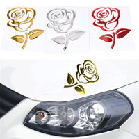 3D Rose Flowers Car Stickers Rearview Mirror Bumper Decal Car Decoration WA