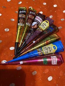 8 Mix Henna Paste Cones Temporary Tattoo Ink