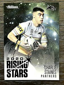2021 NRL TRADERS '2020 RISING STARS' TRADING CARD - CHARLIE STAINES/PANTHERS