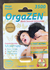 6 Pack OrgaZen GOLD 3500 Male Sexual Performance Enhancement 100% ORIGINAL