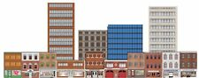 Deluxe HO Scale Train Layout Background Kit W/Storefronts Industrial & High-Rise