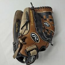 """New listing Rawlings PM2609DBP Left Handed Softball Softball Glove Brown & Black 13"""" Leather"""