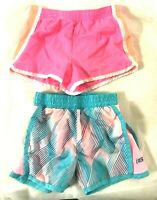 Carter's Skechers Toddler Shorts Built In Panties Pink Blue Girl's 3T EUC