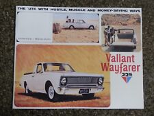 CHRYSLER VALIANT 1966 VC WAYFARER UTE  SALES  BROCHURE  100% GUARANTEE.