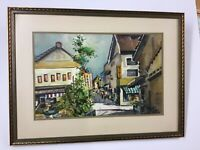 "Listed Texas Artist Bud Biggs Watercolor ""Tokyo"""