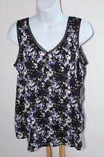 68ca440ecf4519 Simply Vera Wang Top Shirt Floral Women s Size M NWT NEW Blouse