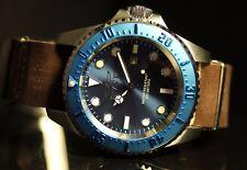 Invicta Mens 50mm Pro Diver Hydromax Brown Leather Strap Watch