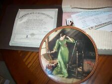 """1991 Bradford Exchange Plate """"Quite Reflections"""" By: Norman Rockwell #8976A"""