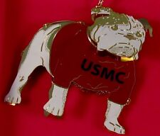 Bulldog USMC 24 kt. Gold Finished Brass Ornament NIB  MADE IN USA! FREE Shipping