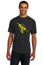 New WWE CM Punk Nexus Black Hoodie Shirt Yellow Logo Men's John Cena Uprising