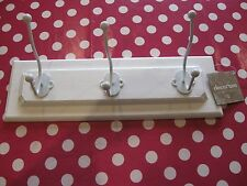 Brand New Shabby Chic White Wooden Coat Hanger with Tag