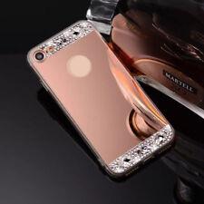 Bling Diamond Crystal Ring Holder Kickstand Mirror Makeup back Case skin Cover T