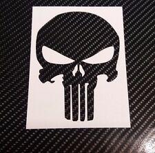 Punisher Decal Carbon Vinyl Decal sticker Sport Racing car, moto,helmet 4 pcs