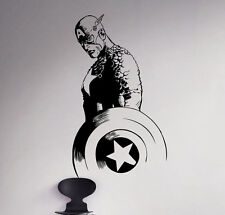 Captain America Vinyl Decal Superhero Wall Sticker Marvel Comics Decor 63(nse)