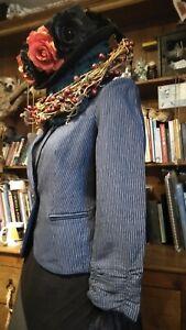 Pinstripe Jacket Sz 8 Steampunk Victoriana Whitby