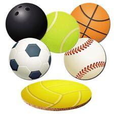 "Untersetzer 6-tlg.Set ""Bälle"" mit Korkrückseite - Sport - Ball - Ballsport"