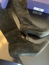 Stuart Weitzman Women's Black Suede Pull On Stretch Boots US 9