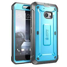 HTC 10 Case Full Body Rugged Holster TPU Bumper Built In Screen Protector Blue