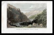 VALLEY OF LINMOUTH 1835 Joseph Clayton Bentley - Thomas Allom ANTIQUE ENGRAVING