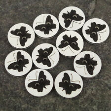 Butterfly Black Buttons,  baby/Kids Craft Cards Knitting/Sewing, 10 pack, B112