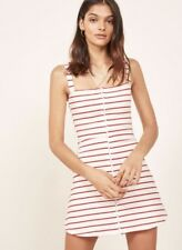 NWT Reformation Nellie Mini Dress White/Red Strip Size S $78.00