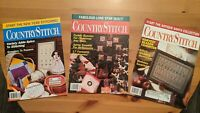 THREE Country Stitch Magazines 1991 and 1992 Christmas See Photos Free Shipping