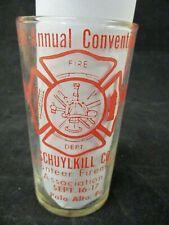 Vintage Fire Department Glass 1966 Palo Alto Pennsylvania Convention