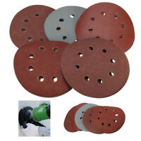 25PC 5 Inch 8 Hole Hook And Loop Round Sandpaper Discs Sanding Sheets
