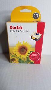 Genuine KODAK Printer COLOR Ink Cartridge 10 New Sealed Box D3