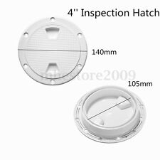 Marine 4'' Inch Screw Out Plastic White Round Boat Deck Plate Inspection Hatch