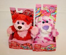 Russ Yummy Luvvies Peeper Lollipop Cherry Scented Plush Stuffed Animals Lot 2