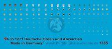 Peddinghaus 1/35 German Medals, Campaign Shields & other Uniform Insignia 1271