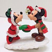 2003 Disney Hallmark MINNIE & MICKEY CLIP-ON Holiday Tree Ornament Polyresin