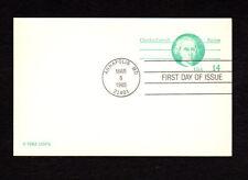 SCOTT # UX 105 Charles Carroll FDC United States Postal Stationery MINT Card