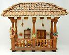Vintage Handmade Portuguese Adobe Roof Wood Rail Issues Tourist Home Model
