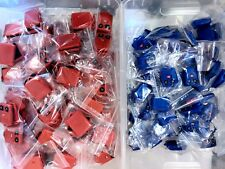 LOT OF 223 FORD 3 BUTTON KEY KEYLESS REMOTE FOB SHELL CASE + RUBBER PAD BLUE RED