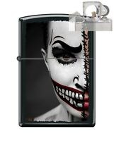 Zippo 218 Half Scary Day Of Dead Lighter with PIPE INSERT PL